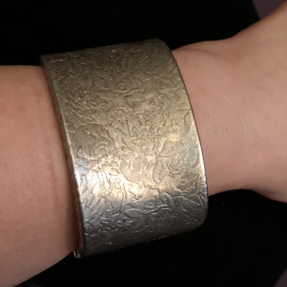 Silver Bangle Cuff Bracelet